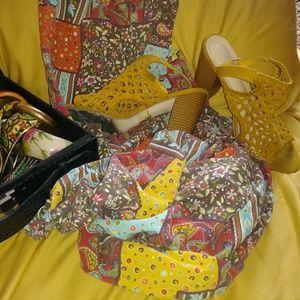 Marigold crochet heels